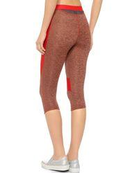 VPL - Spongy Flexure Capri Leggings - Fiery Red - Lyst