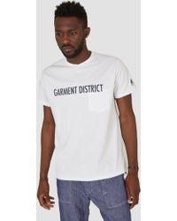 Engineered Garments | Cross Crew Neck T-shirt White | Lyst