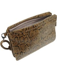 Stefanel - Animal Print Cowide Handbag - Lyst