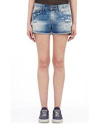 NSF Clothing Painter Denim Shorts blue - Lyst