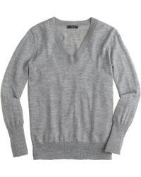 J.Crew Merino Wool V-Neck Sweater - Lyst