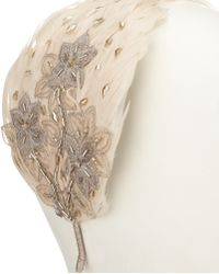 94c8b1579529 John Lewis - Emma Feather And Lace Fascinator - Lyst
