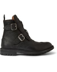 Givenchy Doublestrap Leather Boots - Lyst