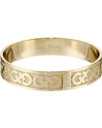 Cole Haan - Logo Metal Bangle Bracelet - Lyst