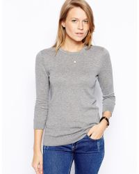 Asos Tall Sweater with Keyhole Back - Lyst