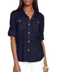 Ralph Lauren Lauren Cotton Gauze Shirt - Lyst