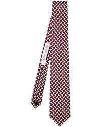 Mathieu Jerome - Panama-jacquard Silk Tie - Lyst