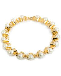 Lele Sadoughi Groove Necklace, Pearl - Lyst