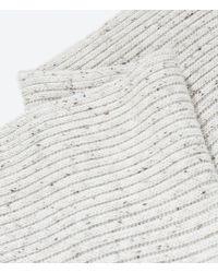 Zara Flecked Rib Knit Scarf - Lyst