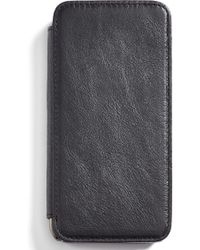 Sena - 'heritage Wallet Book' Leather Iphone 6 & 6s Case - Lyst