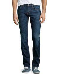 Hudson Byron Blueprint Straight Mediumblue Jeans - Lyst