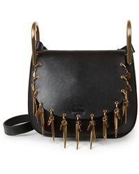 chloe replica handbags - Chlo�� Hudson Medium Tassel Leather Shoulder Bag in Black | Lyst