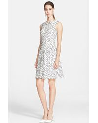 Oscar de la Renta Eyelash Tweed Dress - Lyst