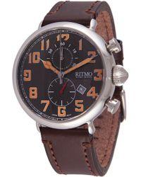 Ritmo Mundo - Chronograph Leather Strap Watch - Lyst