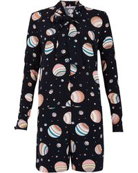 See By Chloé Planet Jumpsuit with Neck Tie - Lyst
