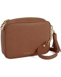 Kenneth Cole - Dover Street Leather Crossbody Bag - Lyst