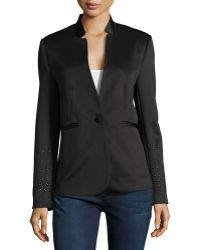 Philosophy Long-Sleeve Ponte Jacket W/ Eyelet Detail - Lyst