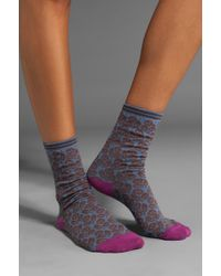 Anna Sui - Pop Floral Crew Socks - Lyst