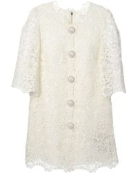 Dolce & Gabbana Mini Floral Macrame Dress - Lyst