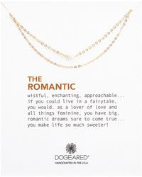 Dogeared - The Romantic 3mm White Cultured Pearl Double Chain Necklace - Lyst