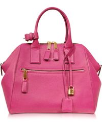 Marc Jacobs Textured Large Raspberry Incognito Satchel - Lyst