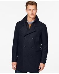 Marc New York - Mulberry Wool-blend Coat - Lyst