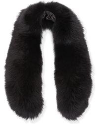 Alice + Olivia - Izzy Fox Fur Collar - Lyst