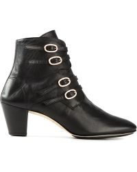 Repetto Buckled Ankle Boots - Lyst