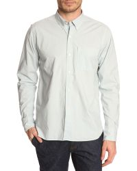 Closed Henry Light Blue Button Down Shirt - Lyst