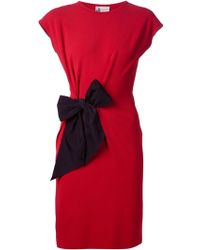 Lanvin Bow-Detail Pencil Dress - Lyst