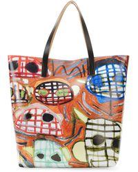 Marni Face-print Pvc Shopping Bag - Lyst