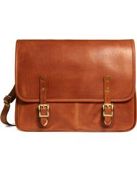 Brooks Brothers - J.w. Hulme Leather Flap Messenger Bag - Lyst