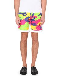 DSquared² Camo-Front Cotton Shorts - For Men - Lyst