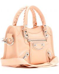 Balenciaga Classic Metallic Edge Mini City Leather Shoulder Bag - Lyst