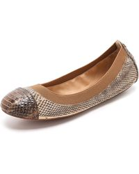 Tory Burch Bridgette Ballet Flats Naturalburnt Brown - Lyst