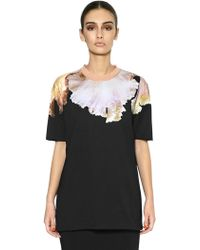 Givenchy Orchid Printed Cotton Tshirt - Lyst