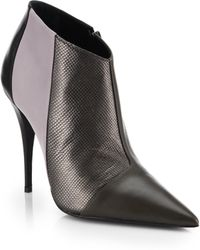 Narciso Rodriguez Sarah Mixed-media Leather Ankle Boots - Lyst
