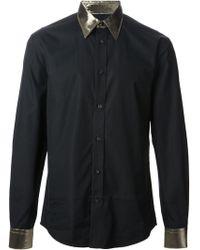 Alexander McQueen Metallic Trim Shirt - Lyst