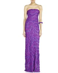 Missoni Strapless Sequin Knit Gown - Lyst