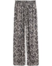 H&M Wide Jersey Trousers - Lyst