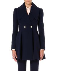 Alexander McQueen Pleated Skirt Lapel Coat - Lyst