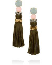 J.Crew Gold-Tone Tassel Earrings - Lyst