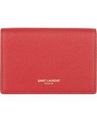 Saint Laurent - Folding Card Case - Lyst