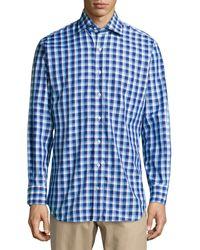 Peter Millar Tattersall Check Woven Oxford Shirt - Lyst