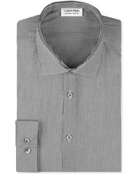 Calvin Klein X Slimfit Grey Stripe Dress Shirt - Lyst