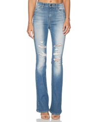 Joe's Jeans Flared High-Waisted Stretch-Denim Jeans - Lyst