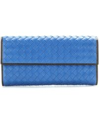 Bottega Veneta Continental Intrecciato Leather Wallet - Lyst