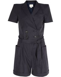 Band Of Outsiders Double Breasted Romper - Lyst