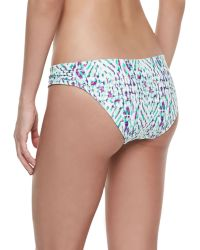 Shoshanna Occitan Ikat Twisted Bikini Bottom - Lyst