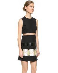 Versace Sleeveless Dress - Black - Lyst